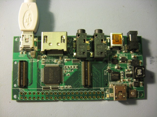 Gumstix Summit baseboard (overo is not installed)